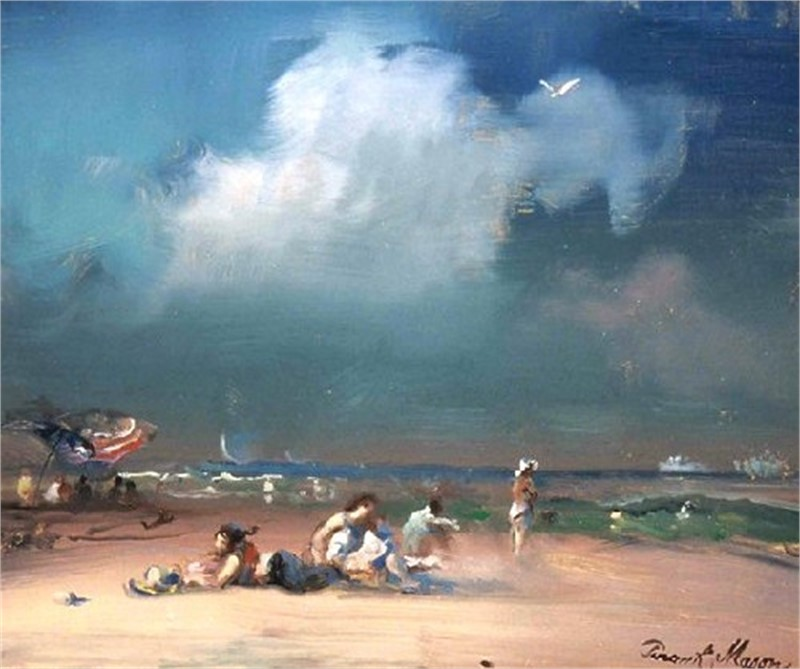 The Bathers, Block Island by Frank Mason