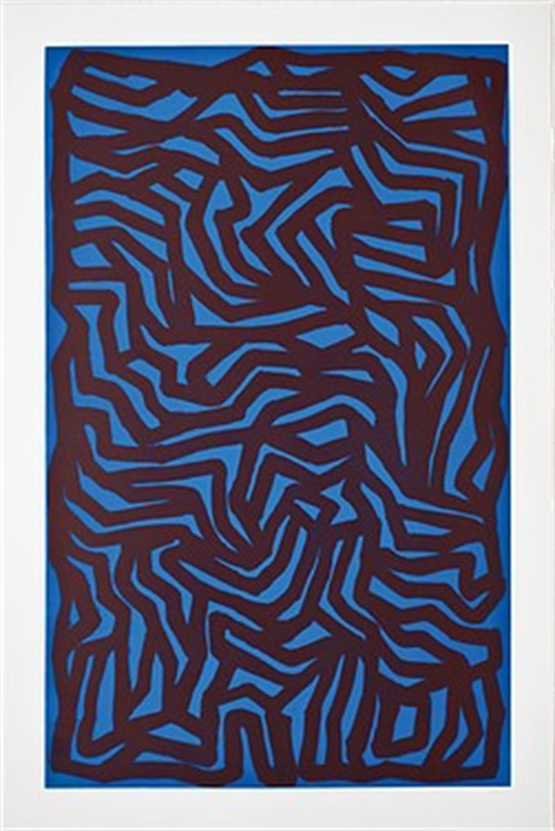 Loops and Curves Blue/Red (4/20), 1990