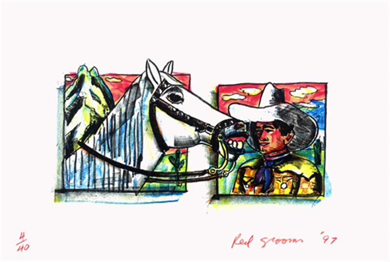 Western Pals by Red Grooms