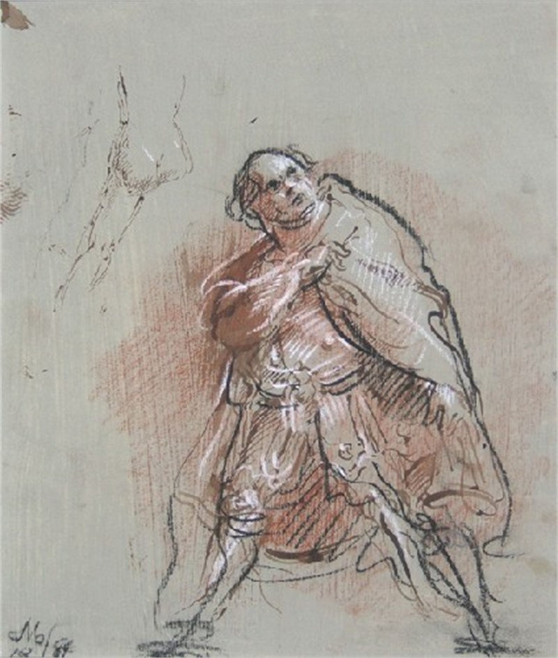 St. Paul on the Road to Damascus and Nude Study by Frank Mason