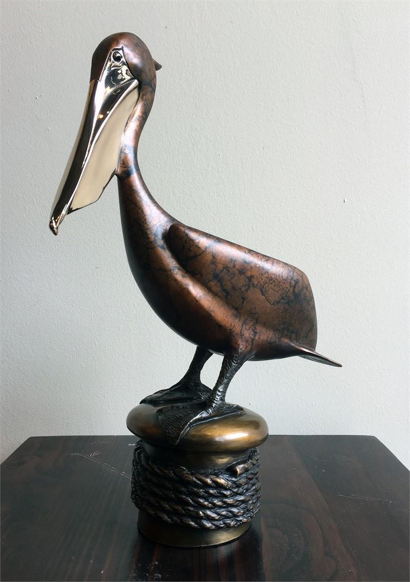 Brown Pelican On Mooring  (10/125)