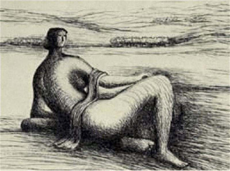 Reclining Figure (1/25), 1977