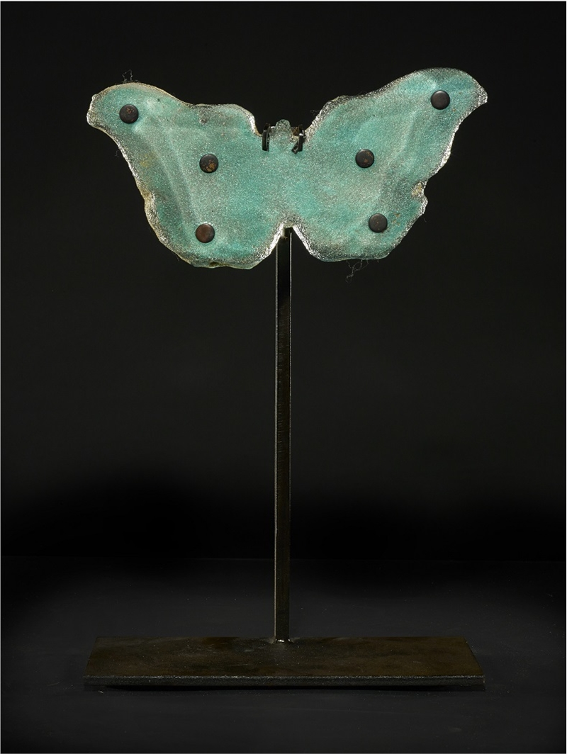 Copper Blue Butterfly with Dots, 2016