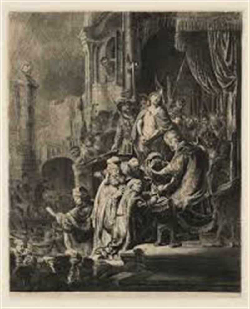 Christ Before Pilate, the Larger Plate, 1636