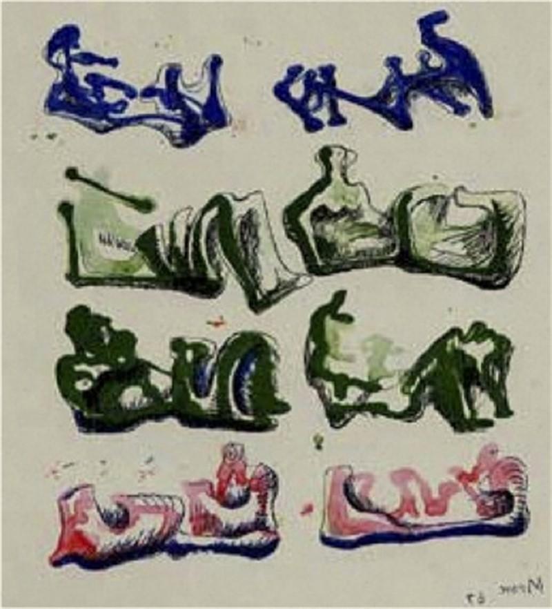 Eight Reclining Figures (1/125), 1967