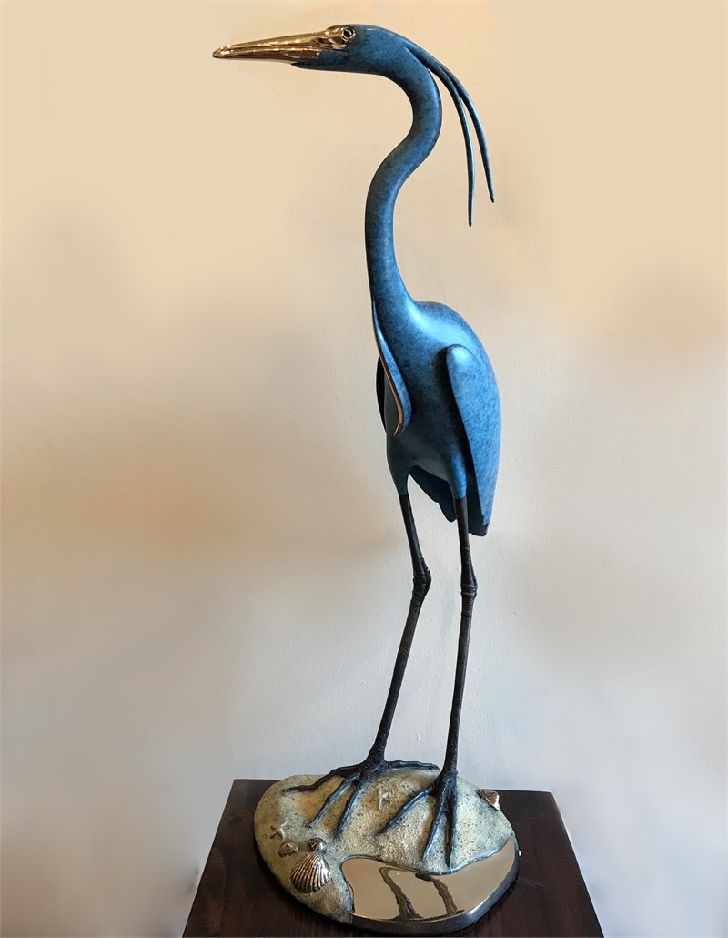 Blue Heron on Sand Bar (6/125)