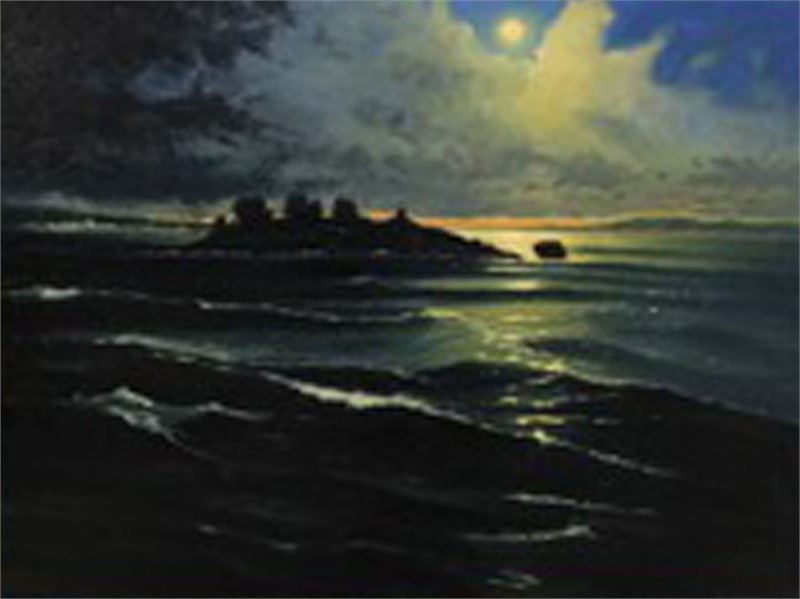 A Gloucester Night – Full moon over Ten Pound Island