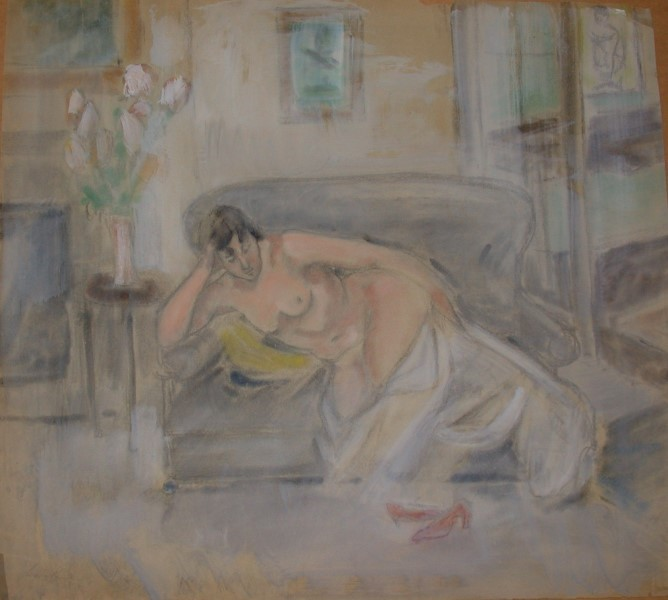 Reclining Nude with Red Shoes, c. 1936