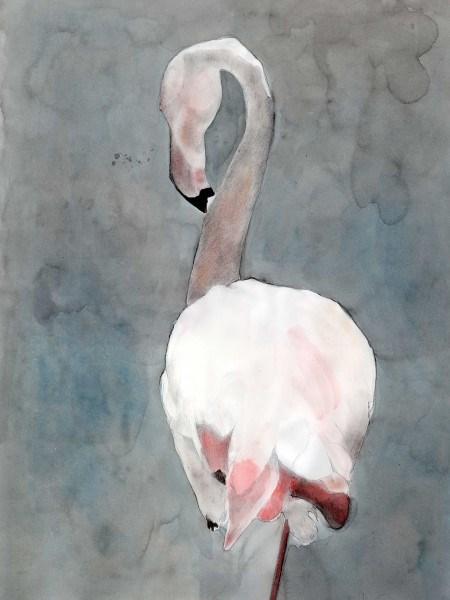 """Camargue Flamingo """"Balancing Act 1"""""""