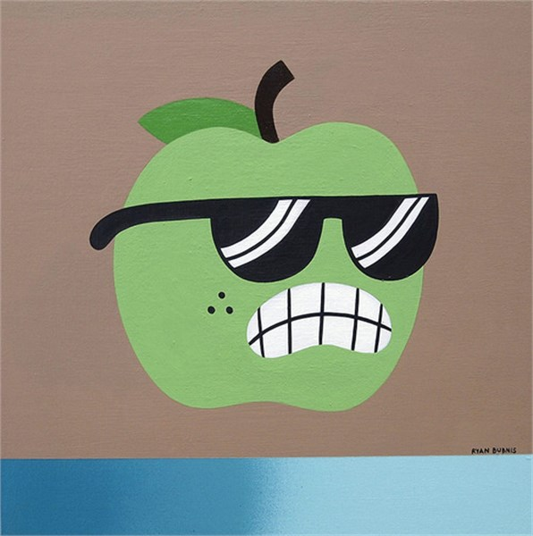 Bad Apple (Another Painting About Teaching)