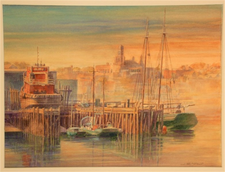 Working Harbor scene