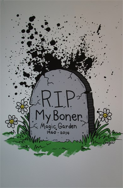"""R.I.P. My Boner"" by Craig Wheat"