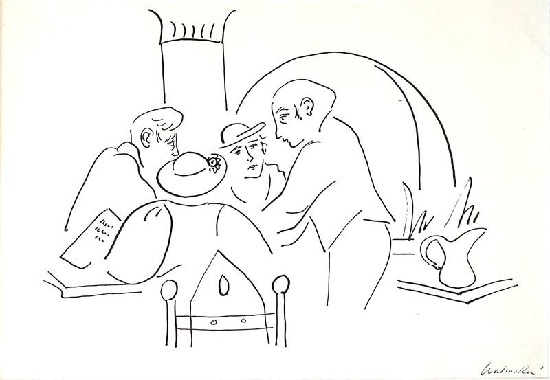 Café Scene #1, c. 1929