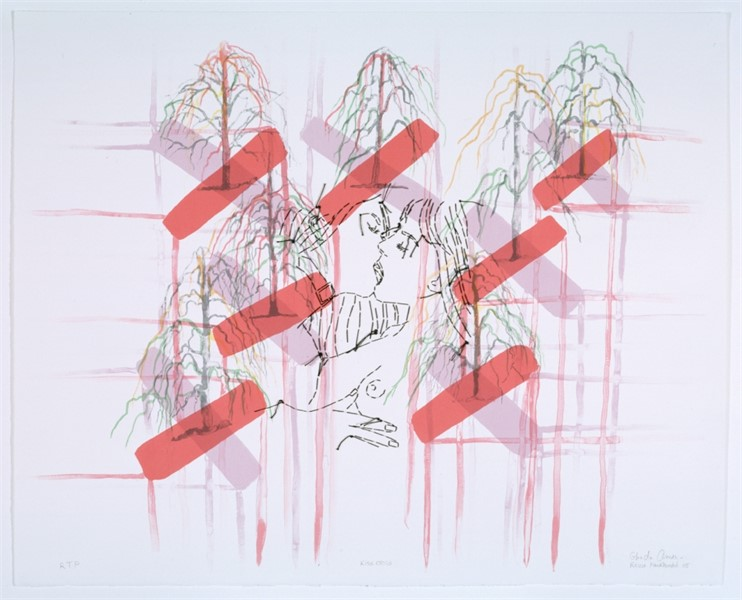 Kiss Cross Ghada Amer & Reza Farkhondeh, Kiss Cross RFGA