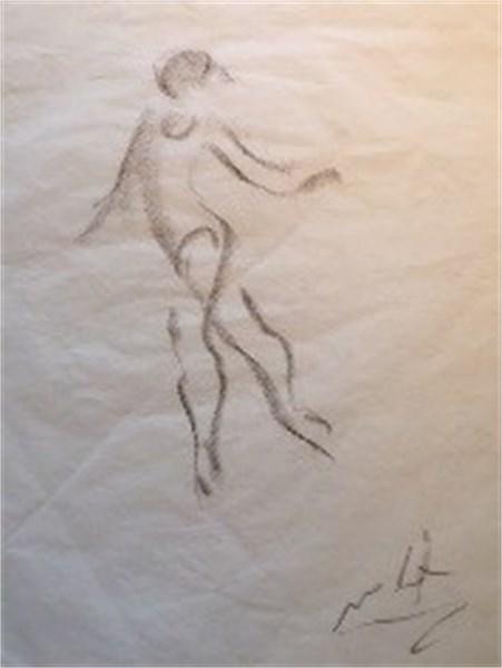 Ballerina gesture sketch triptych