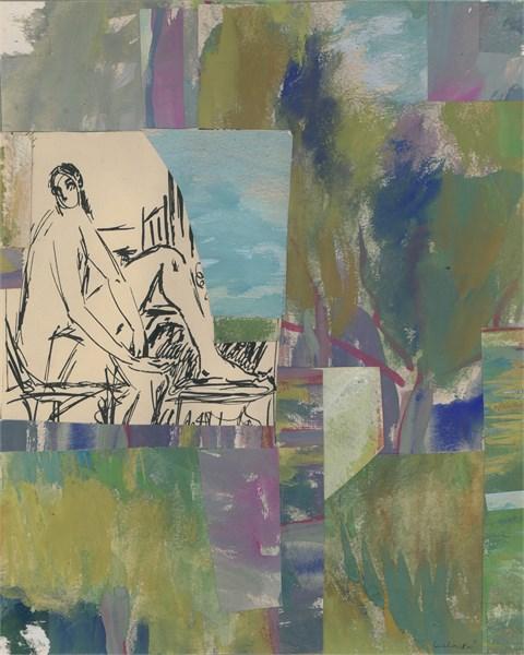 Woman in Landscape, c. 1950