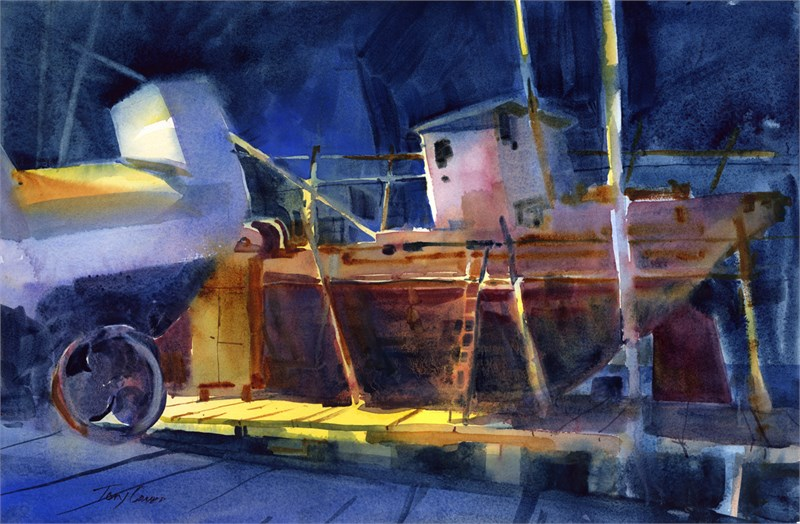 Dry Dock at Night