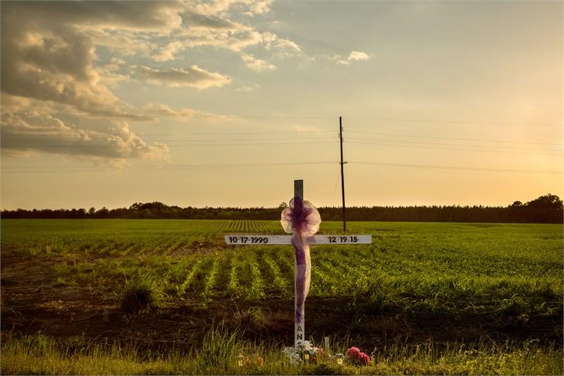 Sunset, Roadside Memorial, Dallas County, AL