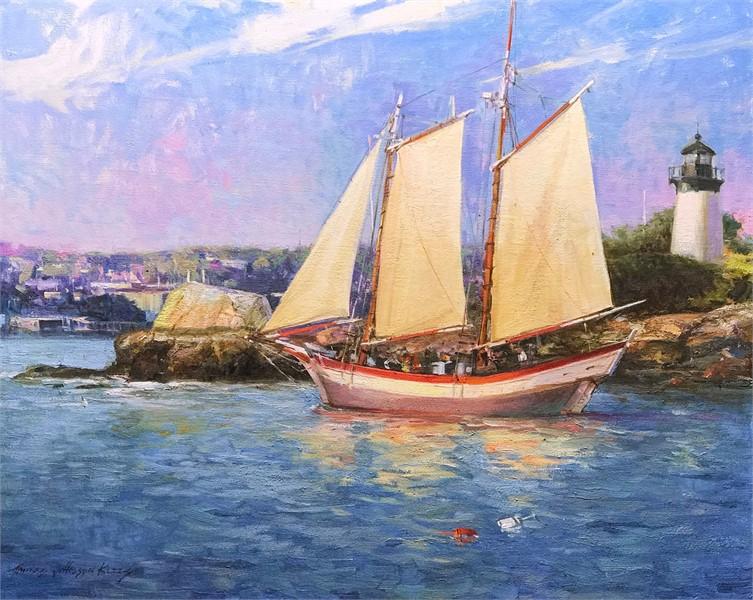 Sailing Past 10 Pound Island