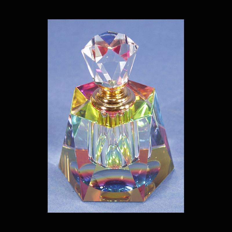 "Crystal Perfume Bottle 4""x 2.5"""