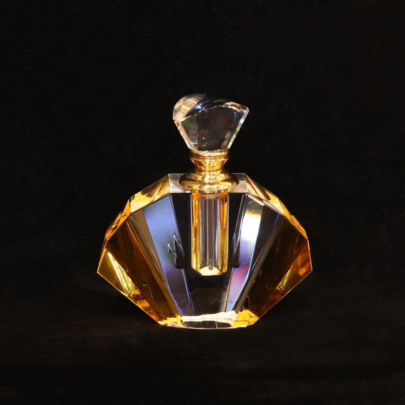 "Crystal Perfume Bottle 3.75""x3""x1""-AW"