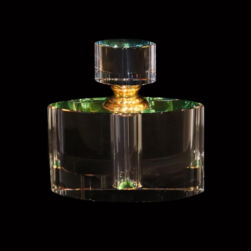 "Crystal Perfume Bottle 4"" x 3.75 x 1.25"