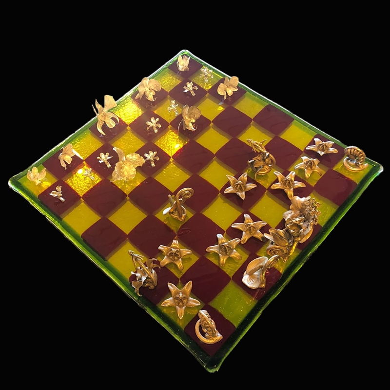 Lei Flower Chess Set, 2019