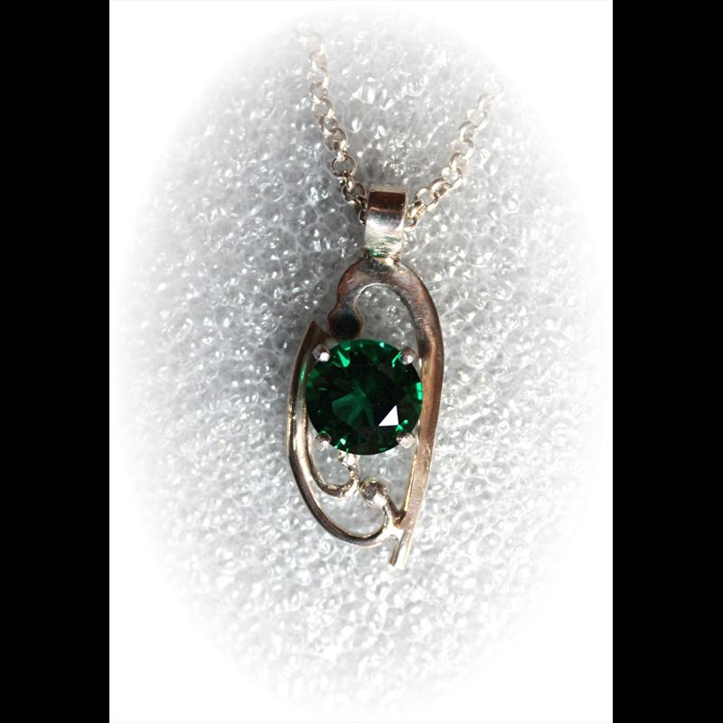 Sterling Silver w/Mt. St. Helen's Emerald Obsidianite, 2018