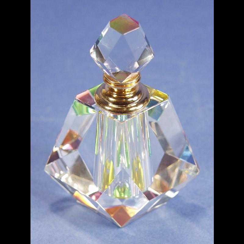 "Crystal Perfume Bottle 4.5"" x 3.5-PO"