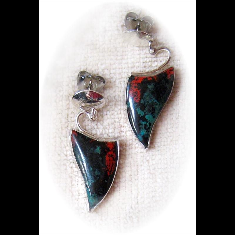Sterling Silver w Sonoran Sunset Earrings, 2016