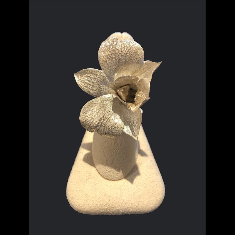 Medium SS Orchid Ring
