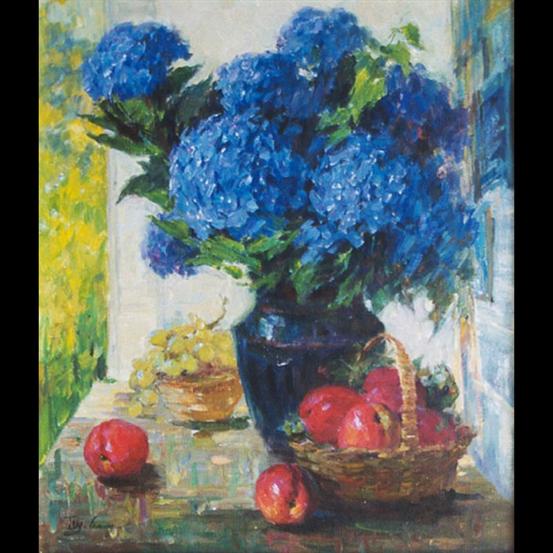 Hydrangeas & Apple