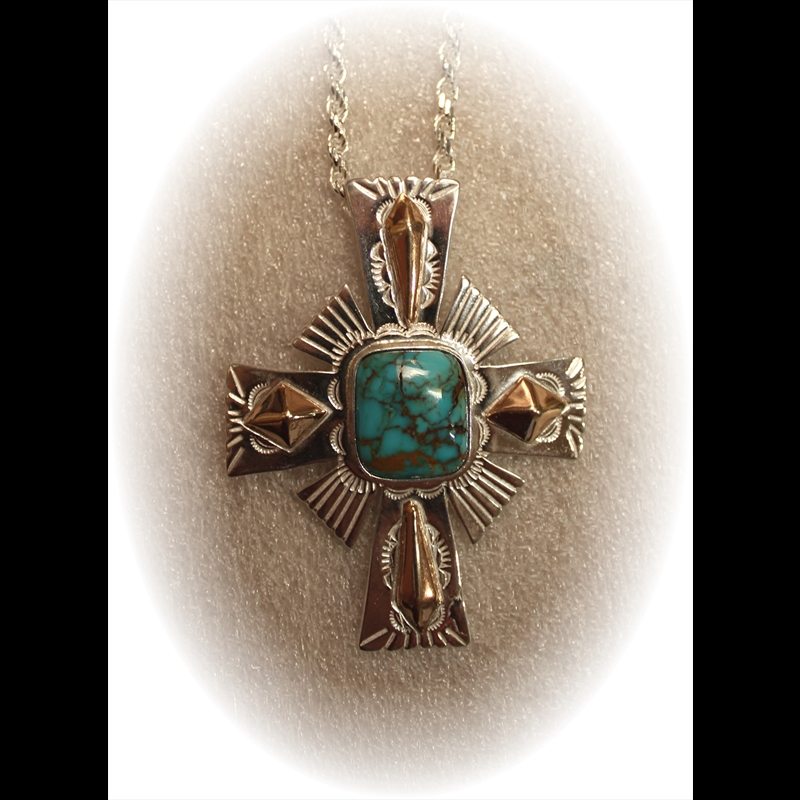Sterling Silver Cross w/Turquoise, 2019