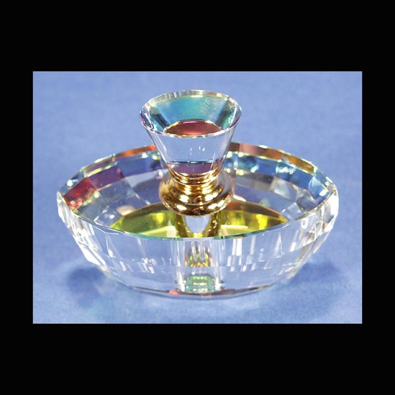 "Crystal Perfume Bottle 4.5"" x 3.5""-PO"