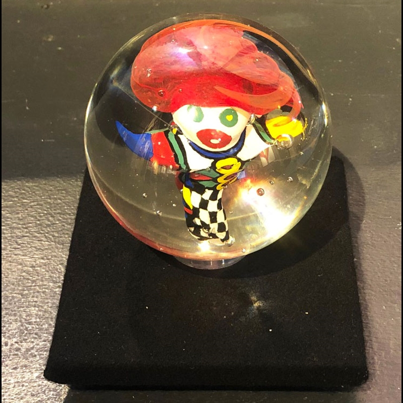 Clown Paperweight with Base