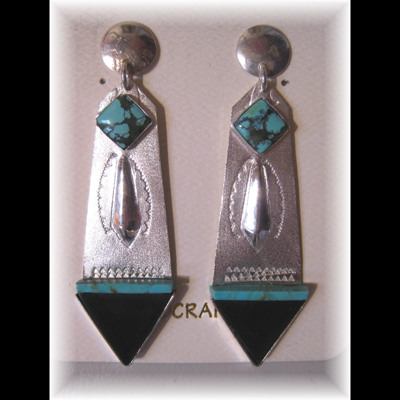 Sterling Silver with Turquoise and Jet