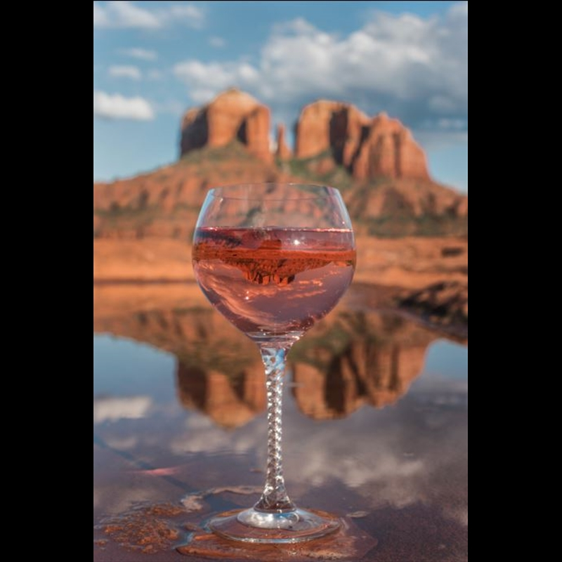 Cathedral Rock Wine Reflected -PO, 2019