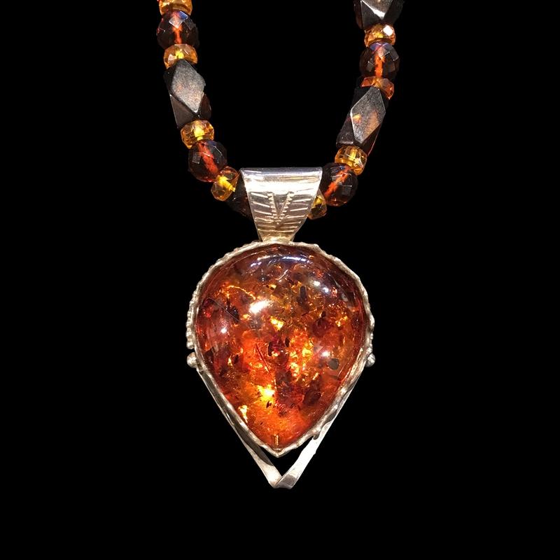 Baltic Amber on amber beads