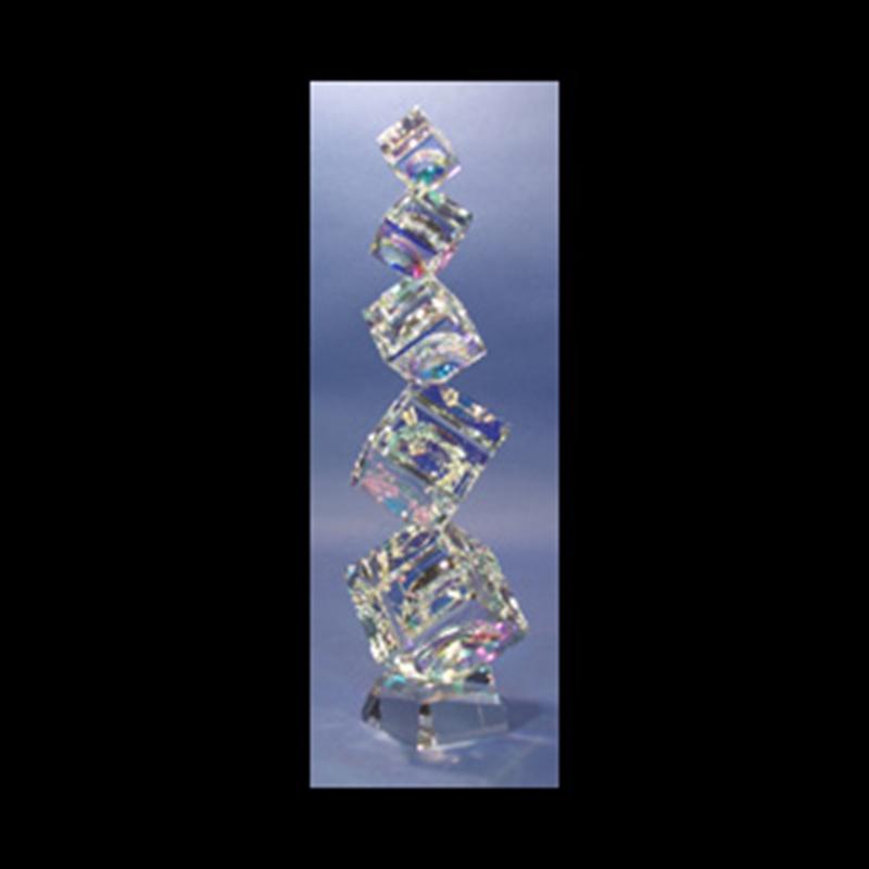 Crystal Cubes Tumbling (5) 40/50/60/80/90mm on Base
