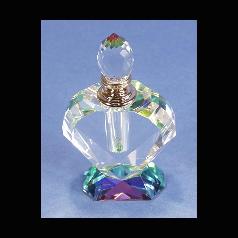 "Crystal Perfume Bottle 4.75""x3""x1.5""-S"