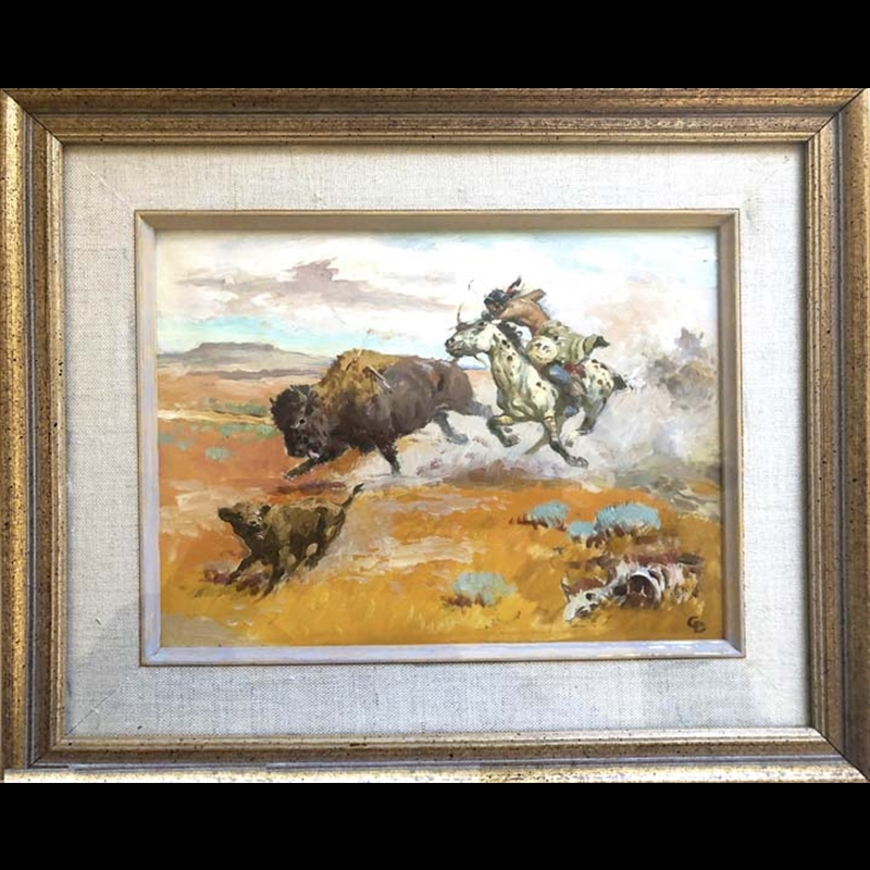 Indian Hunting Buffalo