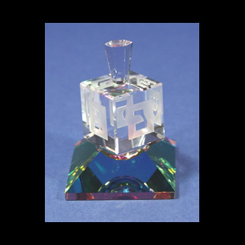 Crystal Dreidel Medium Size 2-S