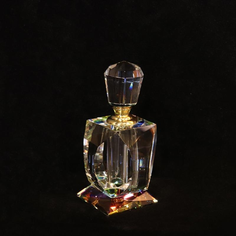 "Crystal Perfume Bottle 5""x2 3/8"""
