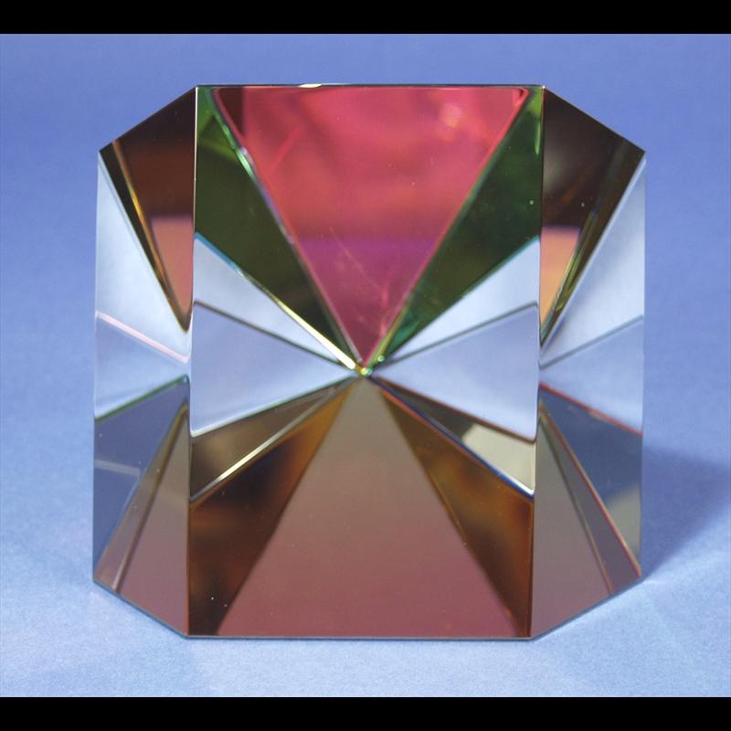"""Crystal Starburst Three Faced 6""""-S-PO"""