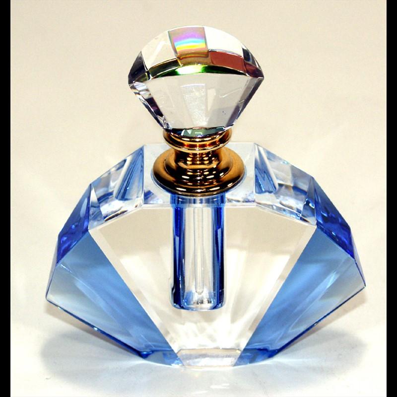 Crystal Perfume Bottle 3.75 x 3.5 x 1.25-PO