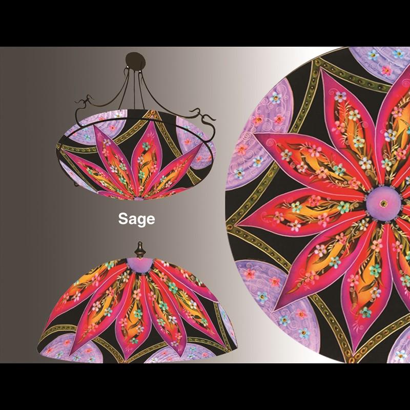 """Display Lamp-Sage Lamp 18""""-#7 base - S"""