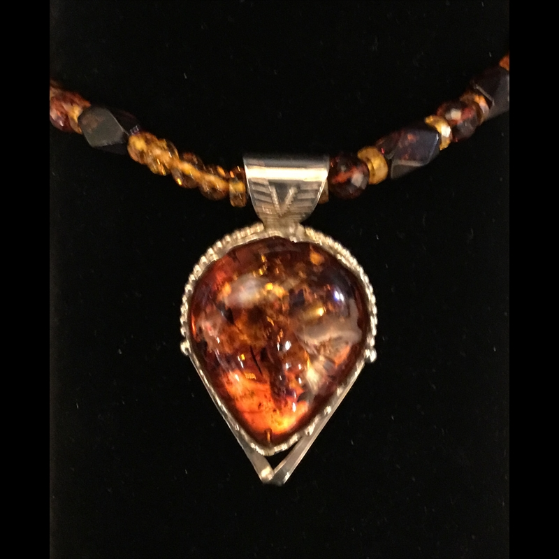 Baltic Amber on amber beads