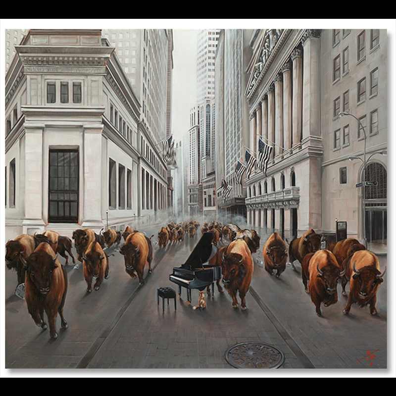 Bull Market Artist Proof-Metal Framed