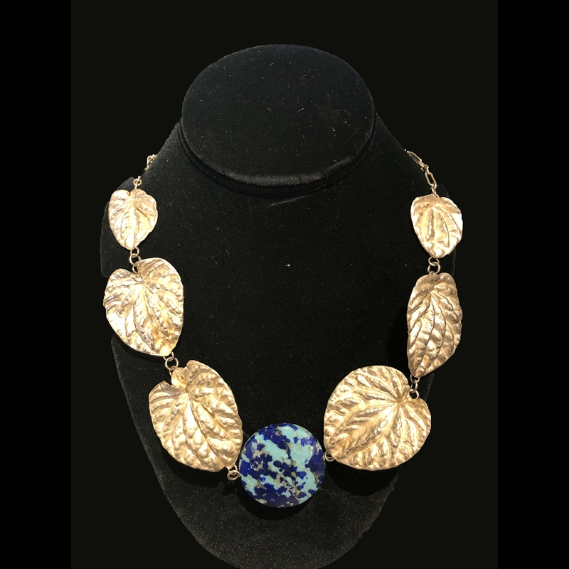 Pepperonia Necklace with Lapis