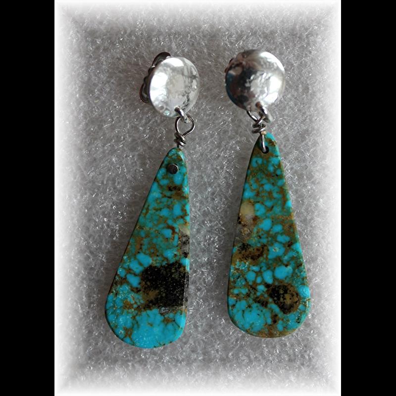 Turquoise Teardrop Earrings, 2019